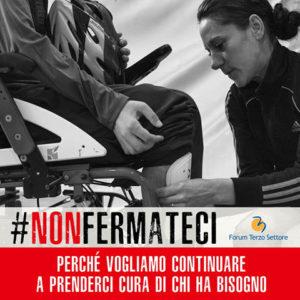 #NonFermateci: la campagna del Forum Terzo Settore